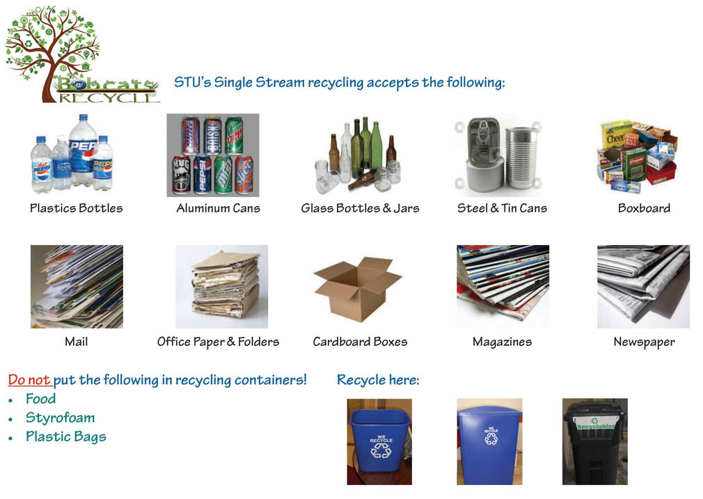 St thomas university recycling solid waste for Waste things uses