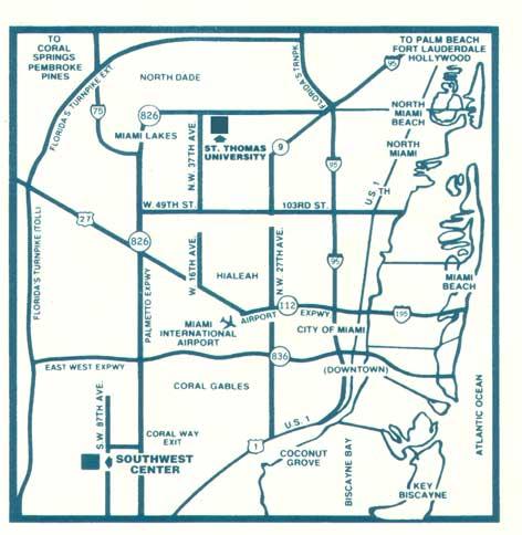 University Of Florida Campus Map.St Thomas University Map Directions